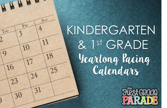 Year Long Planning & Pacing Guide (K & 1st Grades)