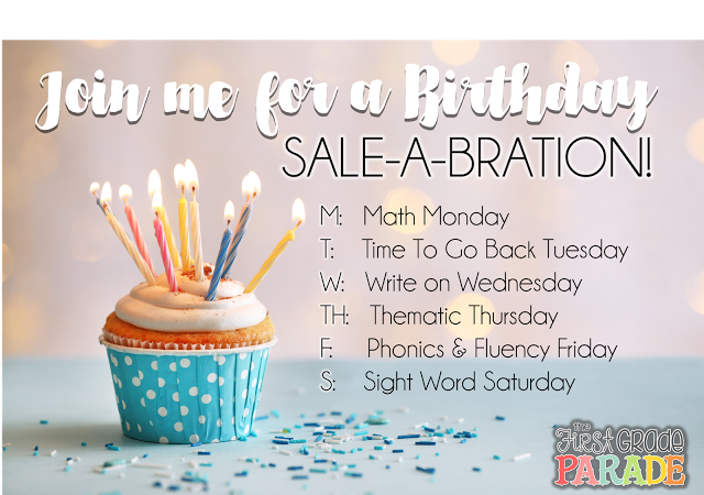 Math Monday (& a Birthday SALE-A-BRATION)