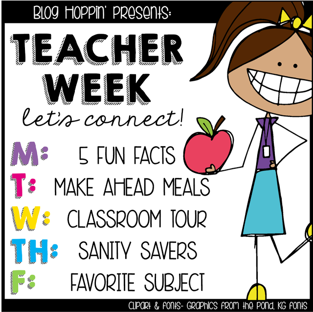 Teacher Week 2015 - 5 Fun Facts About Me (& a Deal of the Day ...