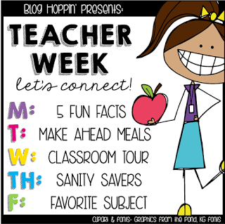Teacher Week – Sanity Savers