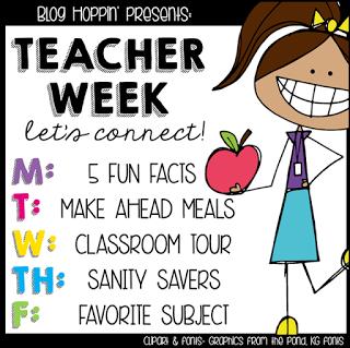 Teacher Week – Sanity Savers