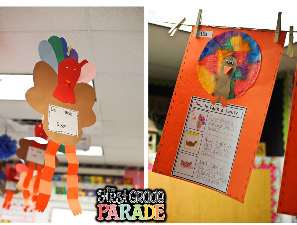 Getting ready for thanksgiving the first grade parade for Turkey crafts for first grade