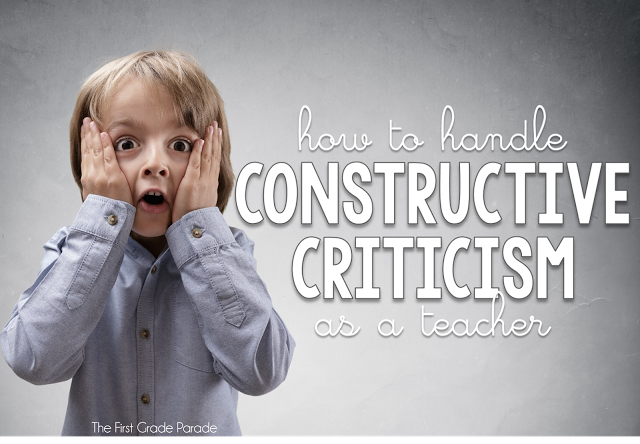 How To Handle Constructive Criticism as a Teacher