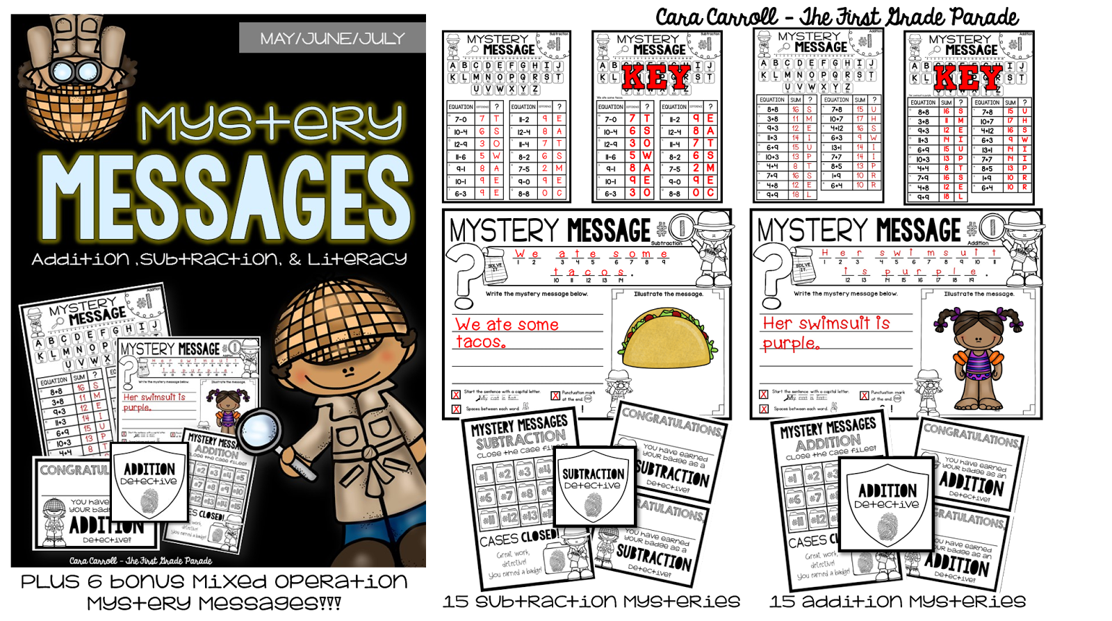 Mystery Messages - The Summer Edition - The First Grade Parade