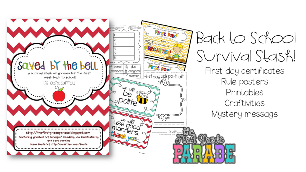 Back to school ideas freebies the first grade parade of course the first few weeks are nothing short of crazy im always need a little something extra so i have a little survival stash of activities to fandeluxe