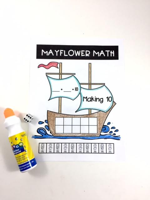 First Up A Little Mayflower Math