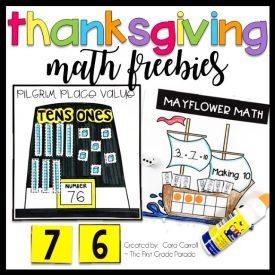 Thanksgiving Math Freebies!