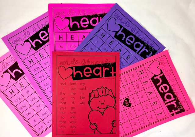 Valentine's Day Freebies! – Blending & Sight Word Games
