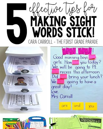 5 Tips for Teaching Sight Words – How to Make Them Stick!