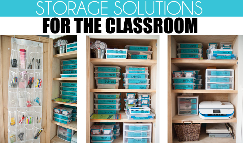 Classroom Literacy Centers & Activities Organization and Storage Solutions