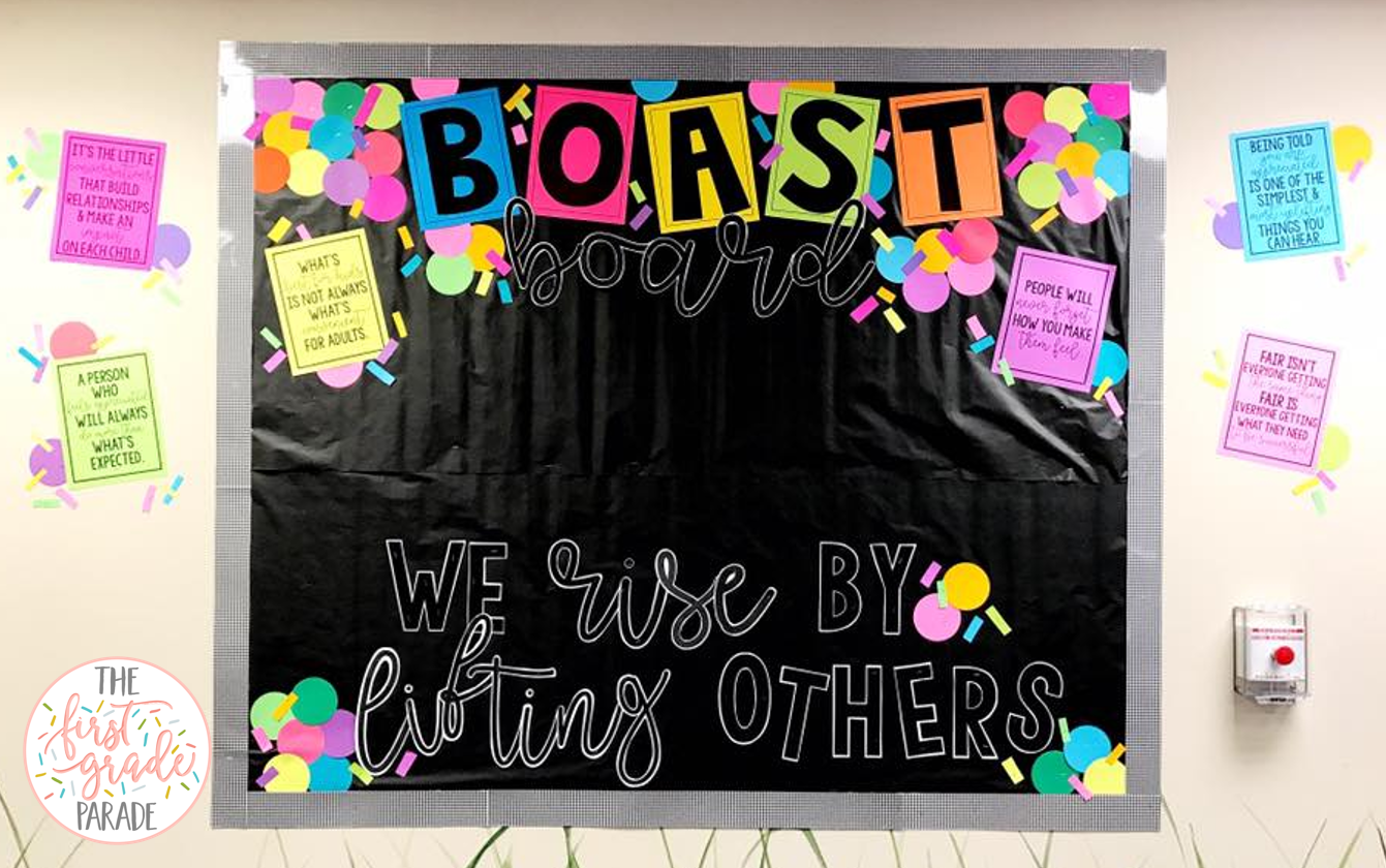 Boast Board Bulletin Board Idea The First Grade Parade