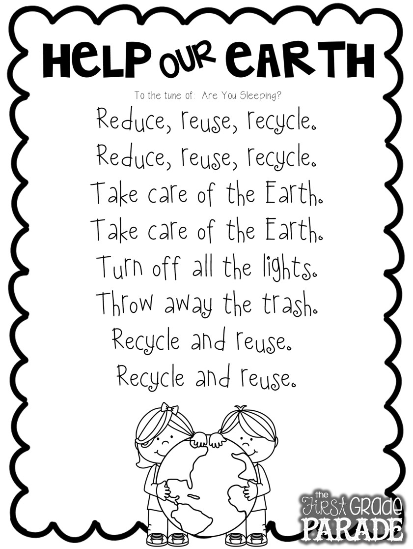 Earth Day Worksheets 3rd Grade : Earth day the first grade parade