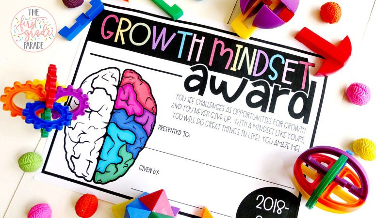 Editable Growth Mindset Awards