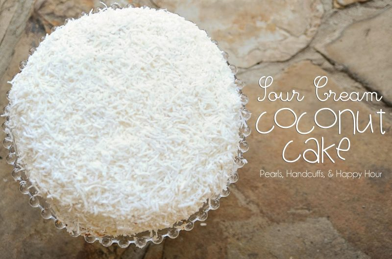 Sour Cream Coconut Cake with Cream Cheese Frosting