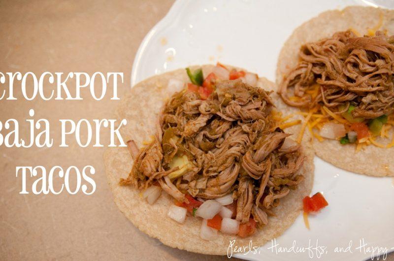 Slow Cooker Baja Pork Tacos